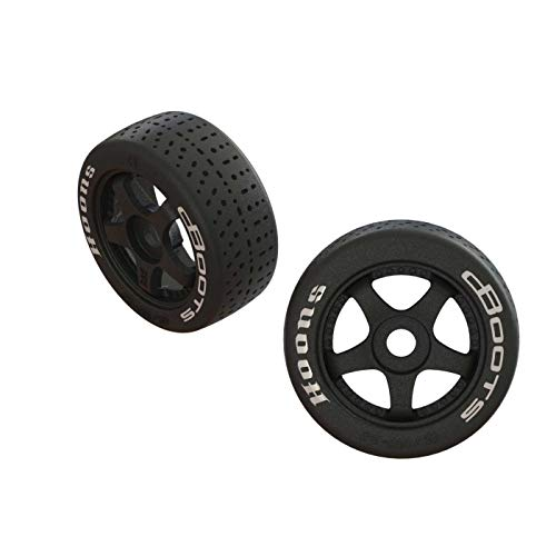ARRMA Dboots Hoons 42/100 2.9 Belted Rc Tires with Foam Inserts, Mounted On 5-Spoke Black Wheels (Set of 2): ARA55062