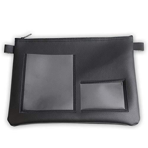 effektivo 11057 Tasche für Fahrzeugpapiere, 30 x 20 cm Schwarz