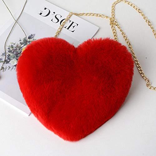 Momyeah Sac de Rangement Sac Cadeau de Saint Valentin en Forme de Coeur Femmes Coeur Messager Sac Dames Sac de Rangement, Rouge