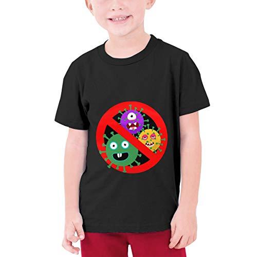 Stop Cor-Onavir-Us Youth Boys Teens Custom T-Shirt, Fashion Shirt for Boys and Girls Black