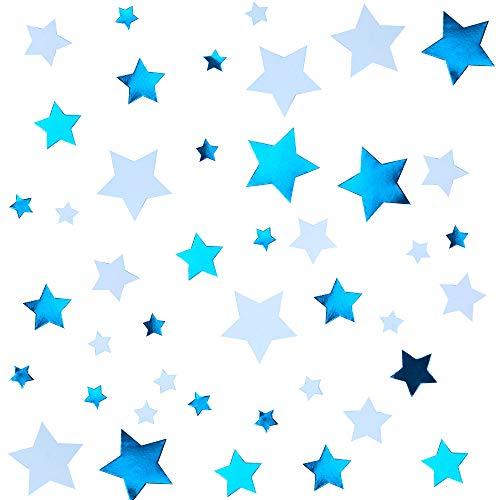 Neviti 775561 Klein Ster Blauwe Tafel Scatters Confetti, 3 x 3 cm