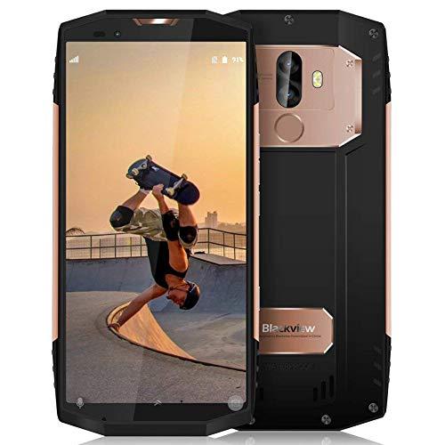 Oferta móvil, Blackview BV9000 Pro teléfonos Android 7.1 Smartphone ip68 con 5.7 pulgadas (relación 18: 9) Pantalla completa, 6GB RAM 128GB ROM y la cámara 13MP + 5MP / 8MP SONY dual y la batería 4180mAh, ID NFC / GPS / Face ID / huella digital, oro