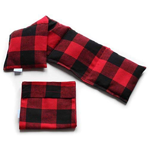 Microwavable Heating Pad with Washable Bag (Red Plaid w/Bag)