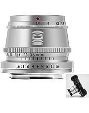 TTArtisan Obiettivo F1.4 da 35 mm, obiettivo fotocamera APS-C con messa a fuoco manuale, compatibile con Fuji X XA XM X-H1 X-T1 X-T2 X-T20 X-T3 X-T4 X-T100 X-T200 X-PR0 XE XS10 e altri (argento)