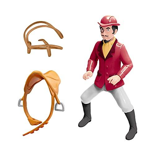 CRAZE BIBI & Tina Riding Falko Figur zum Sammeln und Spielen Reiter Spielfigur GRAF von Falkenstein 30554, Pferde Spielwelt