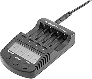 BC2S DOSS Ni-Mh/CD 4X Aa/AAA Charger Battery Charger with USB Port with USB Output Port with USB Output Port, 4 Modes: Tes...