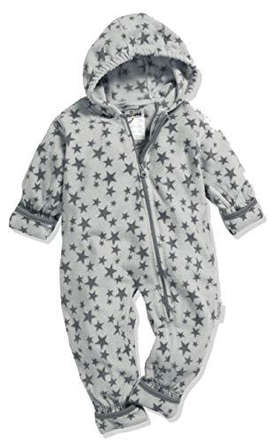 Playshoes Baby-Unisex Fleece-Overall Sterne Schneeanzug, Grau (Grau 33), 62