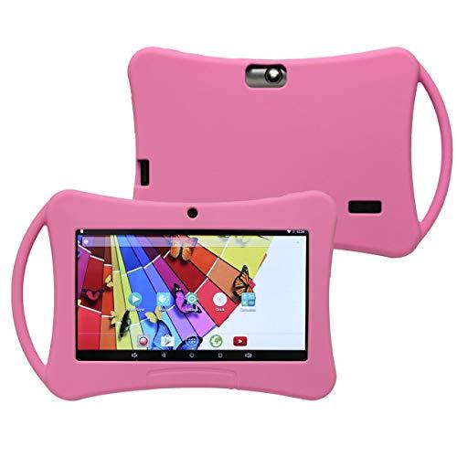 YONIS Housse Tablette en Silicone Protection 7' Enfant Universelle étui renforcé Rose