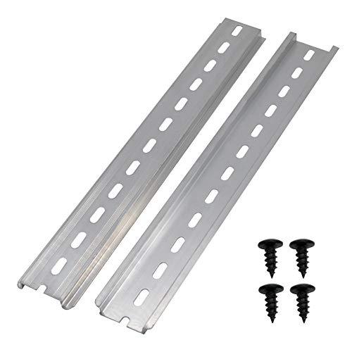 """mxuteuk 2 Stk. DIN-Schiene Schlitz Aluminium RoHS 10""""Zoll lang 35 mm breit 7,5 mm hoch MXU-DIN-250"""