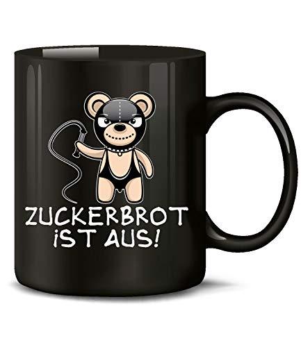 Golebros Zuckerbrot ist aus 6141 Büro Handwerker Kollege Kollegin Arbeitskollege Arbeit Job Fun Spruch Tasse Lustig Becher Kaffeetasse Versaut Teddy Schwarz