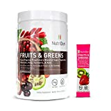 Nutri-Dyn Fruits and Greens Espresso Powder, Certified Organic with Acai, Gogi, Mangosteen, Noni & Pomegranate Super Fruits Net Wt. 10.8 oz, Includes Sample to-Go Packet