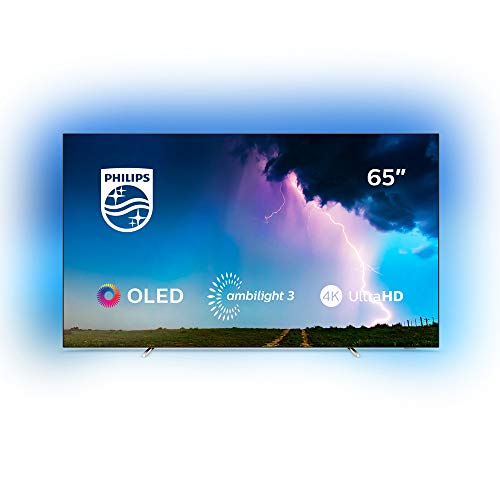 Philips 65OLED754/12 65-Inch 4K UHD OLED Smart TV with Ambilight, P5 Perfect Picture Engine, Dolby Vision, Dolby Atmos, HDR 10+, Alexa built-in - Black (2019/2020 model)