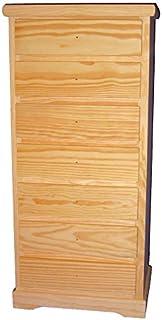 Greca Cajonera de Madera. 7 cajones. En Crudo para Pintar. Medidas (Ancho/Fondo/Alto): 50 * 32 * 106 cms.