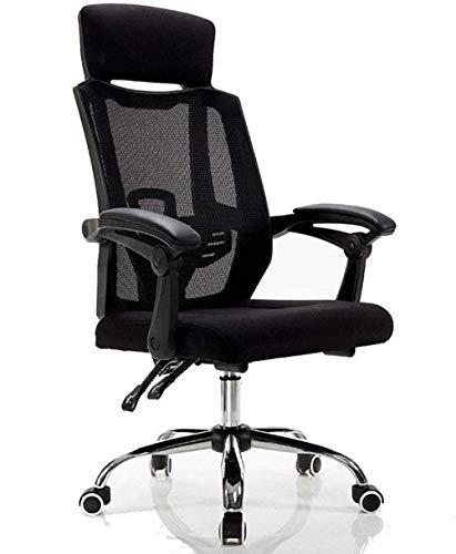 Silla de juego Silla giratoria: silla de oficina Silla de mesa de altura de altura ajustable Malla giratoria Conferencia de computadora / Silla de escritorio acolchada para el hogar con respaldo de br