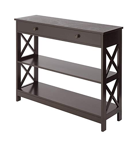 Convenience Concepts Oxford 1 Drawer Console Table, Espresso
