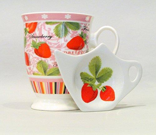 Gifts Of The Orient GOTO - Set da tè con piattino e uovo da tè, in confezione regalo