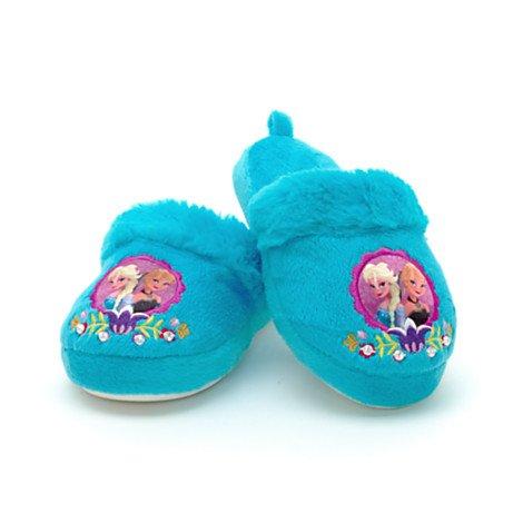 Disney Authentic - Frozen Elsa Anna Warm Winter Indoor Slippers Shoes For Girl's / Kids - Size UK 9 - 10 .... EU 27 - 28