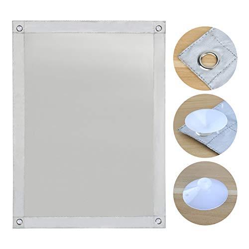 OBdeco Thermo Rollo Dachfenster Sonnenschutz Verdunkelungsrollo für Velux Hitzeschutz ohne Bohren mit Saugnäpfen (Weiß, 96x115cm)