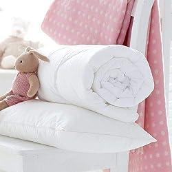 Cot Duvet Size: 120cm x 150cm Pillow Size: 40cm x 60cm Pillow Size: 40cm x 60cm Made in UK Anti-Allergy