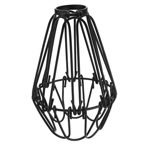 VOSAREA Vintage pendelleuchte Mode Eisen draht licht käfig DIY lampenschirme für Haus bar Cafe Restaurant (schwarz)