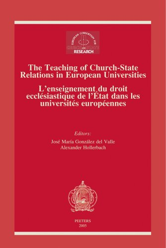 The Teaching of Church-State Relations in European Universities - L'en