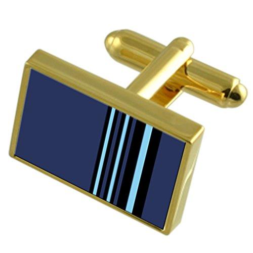 Select Gifts RAF Insigne armée de l'Air Marshal rang Gold-tone de manchette Message gravé fort