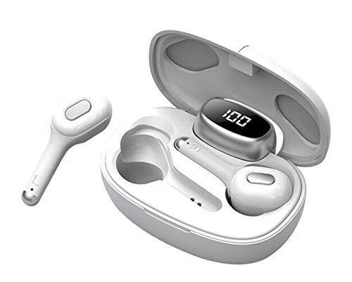 Smart Language Translator Device, Electronic Translator Portable Bluetooth Multi-Language Translation, 33 Languages Wireless Translator Headset for Traveling Business, White