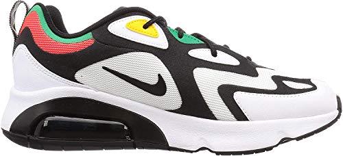 Nike Herren AIR MAX 200 Traillaufschuhe, Mehrfarbig (White/Black-Bright Crimson 101), 45 EU