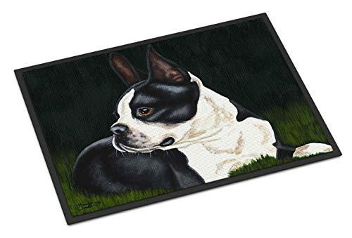 "Caroline Tesoros del amb1321jmat Boston Terrier Belleza Interior o al Aire Libre Estera, 24""x 36"", Multicolor"