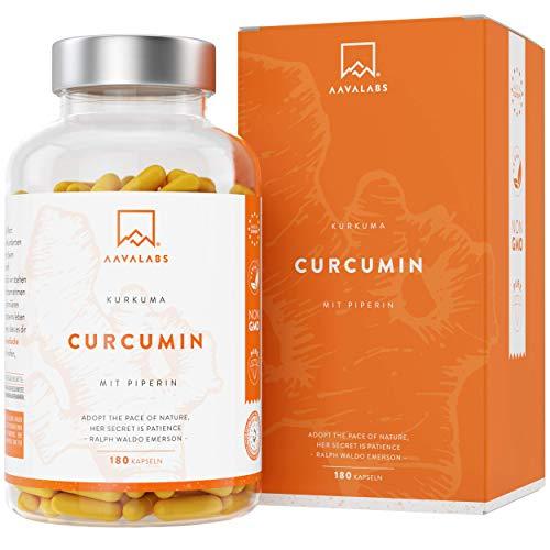 AAVALABS | Kurkumacapsules | Hoge dosis - (4230 mg) | 180 capsules | Veganistisch