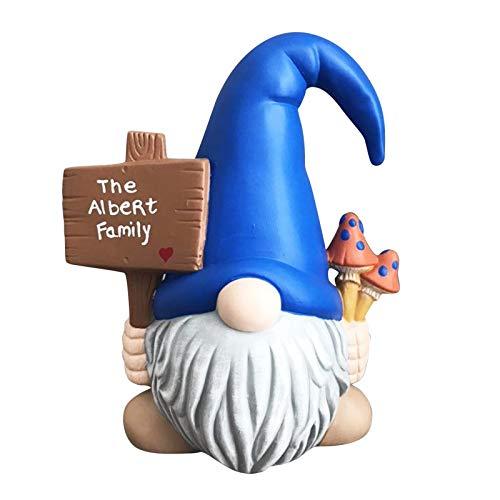 foreverH Gartendeko Figuren,Garten Gnome Statue,Gartenzwerg-Statue Dwarf Statue-Resin Ornament,Harz Gnom Figur Gartenzwerge für Balkon,Garten