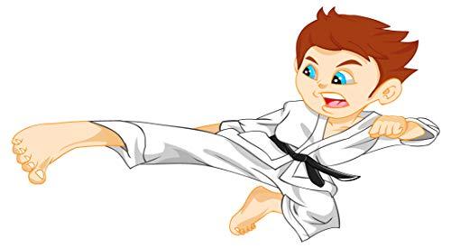 dekodino® Wandtattoo Kampfsport Karate Comic Figur Wandsticker Jugendzimmer
