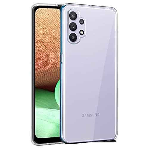 """TBOC Coque Gel TPU Transparent Compatible avec Samsung Galaxy A32 4G [6.4""""] Étui en Silicone Souple Ultra Mince Housse pour Téléphone Portable [Il est Pas Compatible avec Samsung Galaxy A32 5G]"""