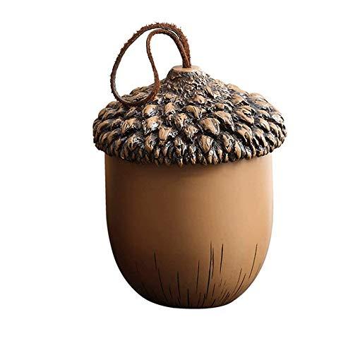 El tanque de almacenamiento de resina europeo, la caja de almacenamiento de decoración creativa, la honda de cuero de forma hermosa traen buena suerte, se pueden usar como portabolígrafos / joyas