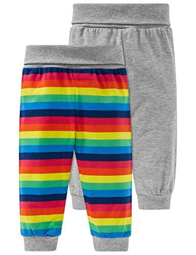 Schiesser Unisex Baby Multipack 2pack Hosen lang Schlafanzughose, Mehrfarbig (Sortiert 1 901), 56 (Herstellergröße: 056) (2er Pack)
