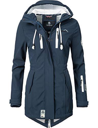 Marikoo Damen Softshell-Jacke Outdoorjacke Zimtzicke Blau Gr. M