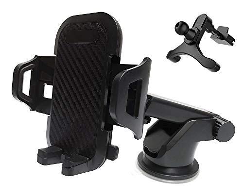 Soporte Móvil para Coche ,(3 in 1), 360 ° Rotación para Parabrisas/Salpicadero Soporte Móvil Télefono para Rejilla Aire Ventilación,(para 3.5 '' a 6 '')-(Sección B)