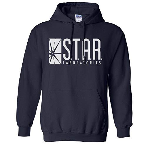 Star Labs Logo Hoodie Sweatshirt Unisex 2X-Large Navy