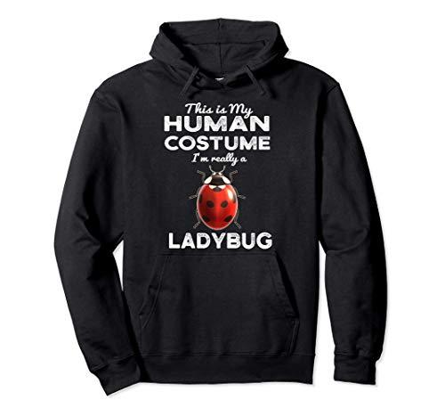 Este es mi disfraz humano Kawaii Ladybug Cosplay Sudadera con Capucha