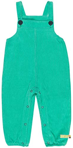 loud + proud Elastische Cord-Latzhose Aus Bio Baumwolle, Gots Zertifiziert Pantalones de Peto, Verde (Jade Jad), 68 (Talla del Fabricante: 62/68) para Bebés