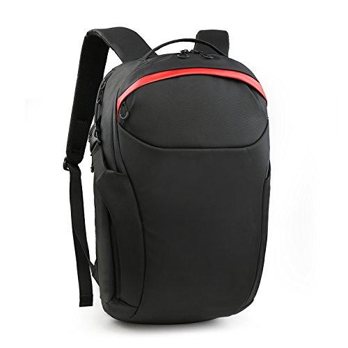Wind Took 15.7 Zoll Laptop Rucksack Business Rucksack Herren Anti-diebstahl Laptop Tasche Unisex Daypack Rucksack Wasserabweisen für Arbeit Freizeit Reisen Rot
