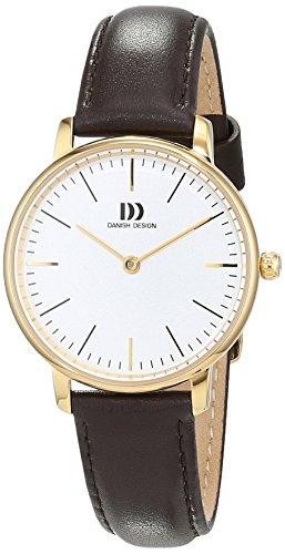 Danish Design dames analoog kwarts horloge met lederen armband 3320232