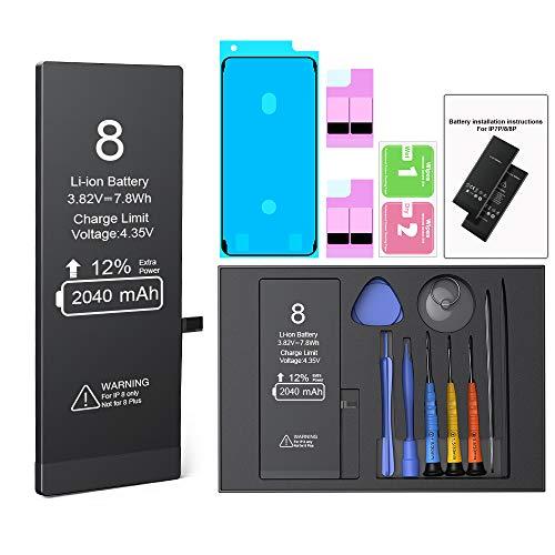 Batería para iPhone 8 de Alta Capacidad 2040mAh con Kits de Herramientas de Reparación