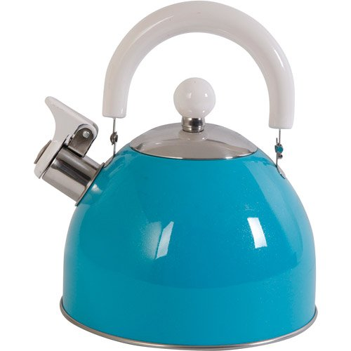 Mr. Coffee Colorcraze 1.5 qt Tea Kettle with White Handle (Blue)