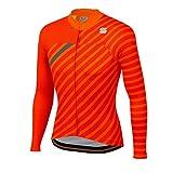 Sportful Bodyfit Team - Maglia invernale da uomo, Uomo, Arancione Sdr/Rosso fuoco/Antharcite, Medium