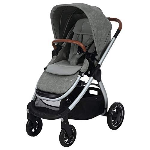 Maxi-Cosi Adorra Kinderwagen, komfortabler, zusammenklappbarer Kombi-Kinderwagen mit Einkaufskorb und mehreren Sitzpositionen, nutzbar ab der Geburt bis ca. 3,5 Jahre (0-15 kg), nomad grey