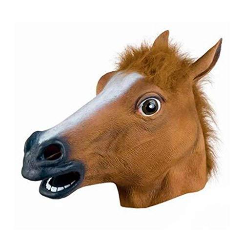 Original Cup - Pferd Latex Tiermaske, Vollkopf Realistische Tierkopfmaske, für Kostümparty, Halloween, Cosplay, Maskerade - Pferd