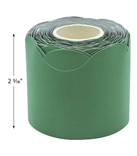 Eucalyptus Green Scalloped Rolled Border Trim Photo #5