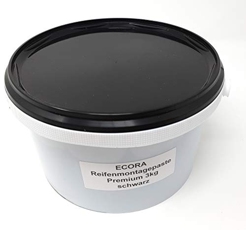 DWT-Germany 101429 Reifenmontagepaste 3kg Premium Montagewax Reifenmontierpaste Montagepaste Schwarz