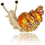 Hinleise Gold Snails Brooches Bijouterie Vintage Brooches Pins